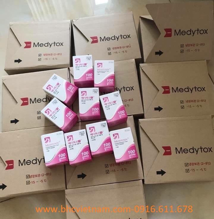 Meditoxin 100ui-Botox Hàn quốc SX: xóa nếp nhăn động, thon gọn hàm.
