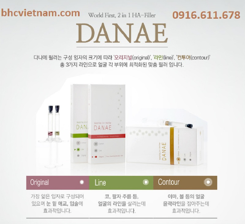Bộ sản phẩm Chấtt làm đầy da Filler Danae – giải pháp cho làn da đẹp hoàn hảo