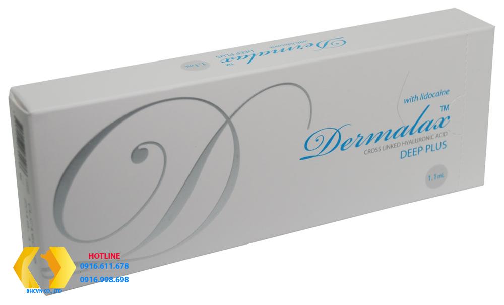 Dermalax Deep Plus-Chữ mầu xanh: Tiêm tạo hình nâng mũi, độn cằm, nâng gò má, xóa nếp nhăn sâu, nếp nhăn vừa