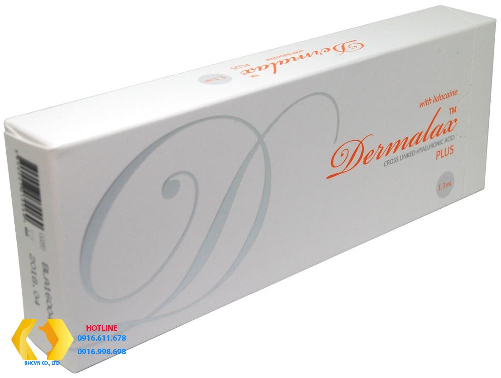 Dermalax Plus-Chữ mầu cam : Tiêm căng mọng môi,  xóa nếp nhăn vùng mắt.