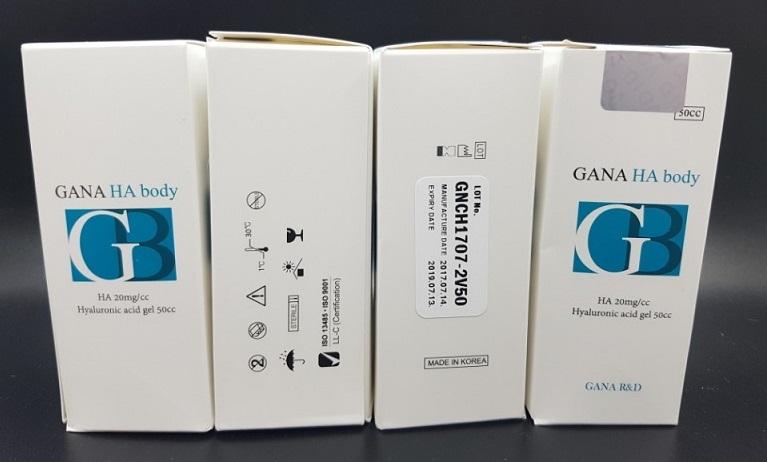 Filler Gana-Ha-Body để tăng kích cỡ mông, ngực