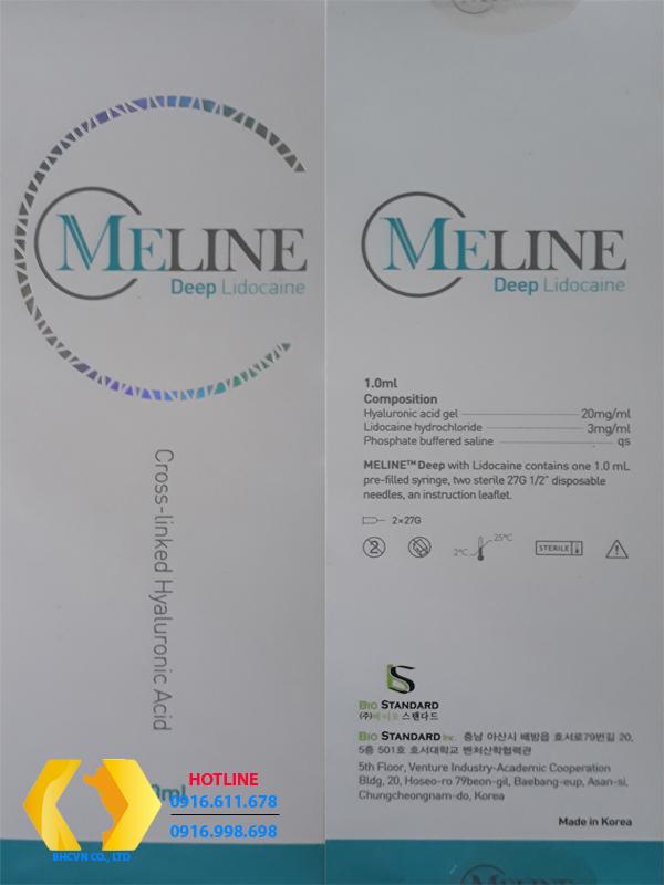 Meline Deep Lidocaine- Hộp mầu xanh lơ (Phân tử hạt H.A vừa)