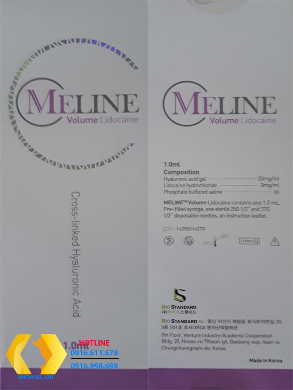 Meline Volume Lidocaine - Hộp mầu tím (Phân tử hạt H.A lớn)