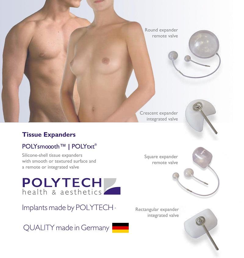 Mô cấy giãn da nhân tạo-Polytech Tissue Expander