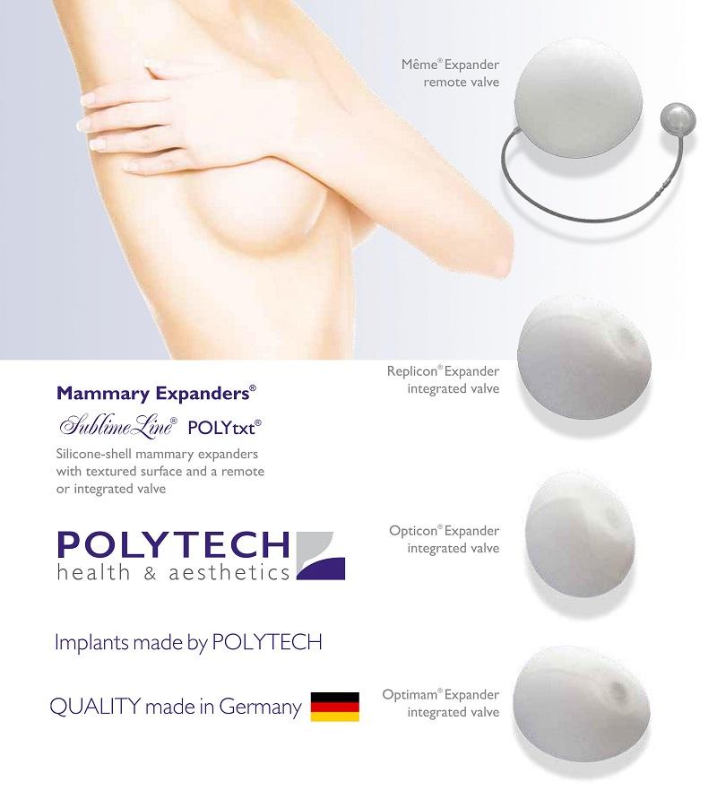 Mô cấy giãn da vùng ngực - Mammary Expander (còn gọi là túi dãn da vùng ngực)